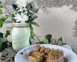 Onglet de Veau, sauce Forestière Accompagné d'un Flan de légumes et de Pomme de Terre grenailles